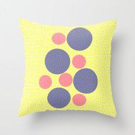 A-mazed circles Throw Pillow