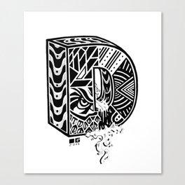 The Letter D Canvas Print
