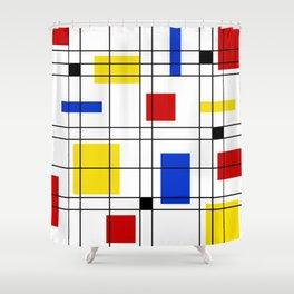 Neo-Plasticism 1 Shower Curtain