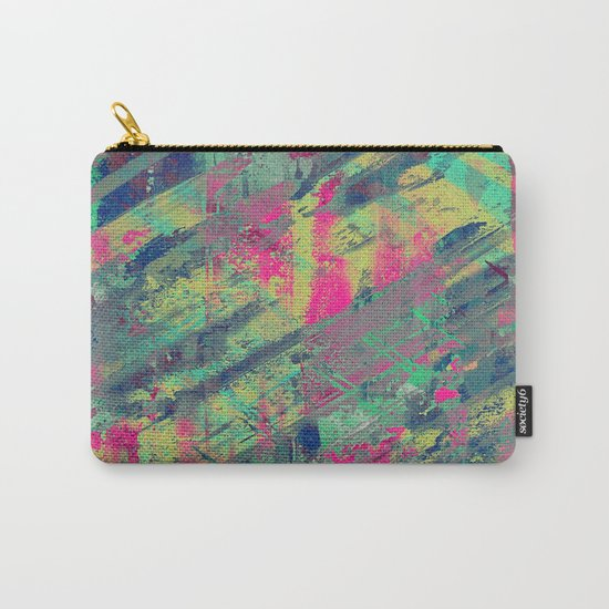 Colour Relaxation - Abstract, textured oil painting Carry-All Pouch