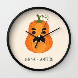 JERK-O-LANTERN Wall Clock