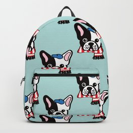French Bulldog in Robins Egg Blue Backpack