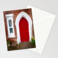 Behind the red door Stationery Cards
