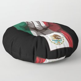 Raised Fist for Mexico | Mexican Flag Floor Pillow