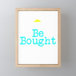 Can't Be Bought | Respect - Bold Neon Framed Mini Art Print