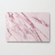 Marble Pattern - Swirled Raspberry Pink Marble Metal Print