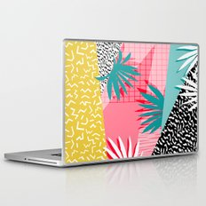 Bingo - throwback retro memphis neon tropical socal desert festival trendy hipster pattern pop art  Laptop & iPad Skin