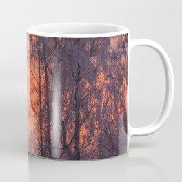 Winter Scene - Frosty Trees Against The Sunset #decor #society6 #homedecor Coffee Mug