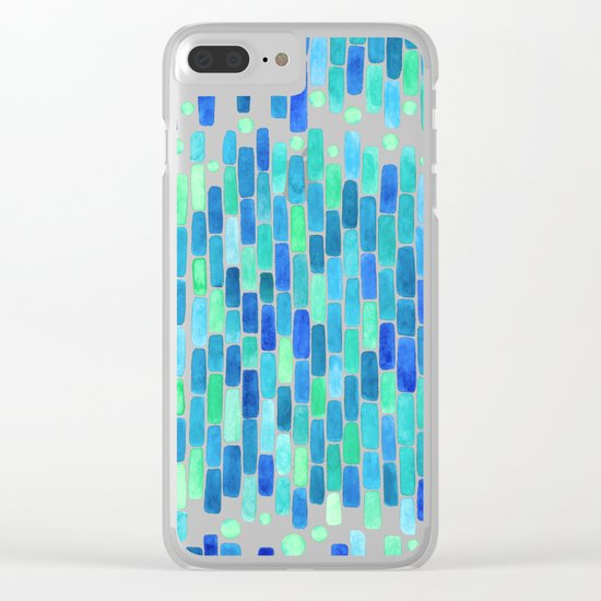 Water Mosaic Clear iPhone Case