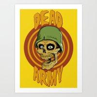 Dead Army Art Print