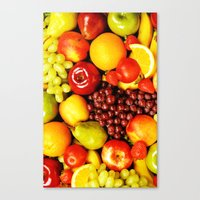 fruits Canvas Prints featuring FRUITS by Ylenia Pizzetti