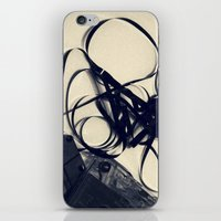 cassette iPhone & iPod Skins featuring Cassette by Ashli Amabile Designs