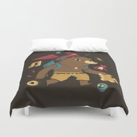 banjo Duvet Covers featuring the collectors by Louis Roskosch