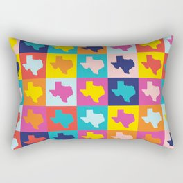 texas rainbow Rectangular Pillow