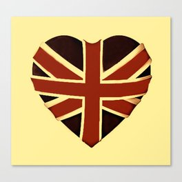 Vintage Union Flag ~ Love Canvas Print