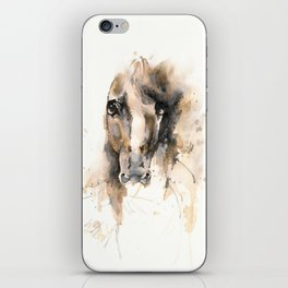 Respect: Portrait of a horse. iPhone Skin