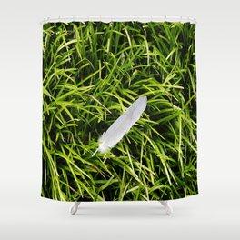 Bird Feather Shower Curtain