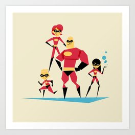 Incredi-family Art Print