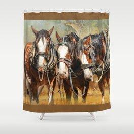 Clydesdale Conversation Shower Curtain