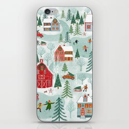 New England Christmas iPhone Skin