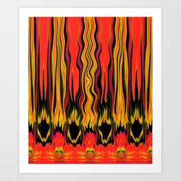 The Fire In Her Soul - Brushstrokes Collection  Art Print