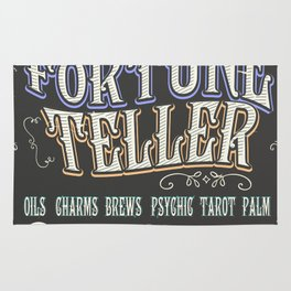 Mystical Fortune Teller poster Rug