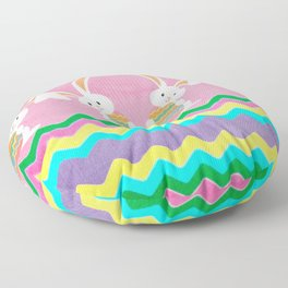 Easter Chevron Pattern Floor Pillow