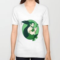 loki V-neck T-shirts featuring Loki by Tess-Zombie