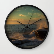 Golden Afternoon Wall Clock