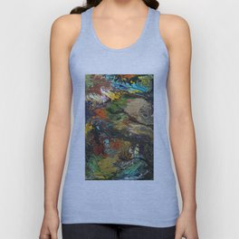 Bird watching the rainbow from a branch Unisex Tank Top