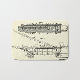 Extension Fire Ladder and Truck-1894 Bath Mat