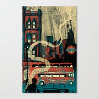 london Canvas Prints featuring London  by Peter Coleman