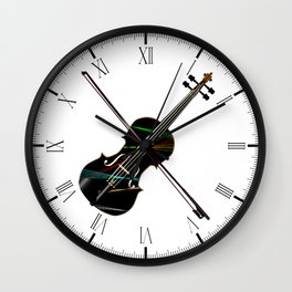 Country Fiddle Lazer Lights Wall Clock