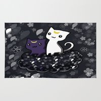 sailormoon Area & Throw Rugs featuring Sailormoon Luna and Artemis by Mayying
