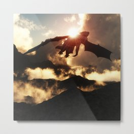 Volcanoes - Home of the Dragons Metal Print