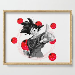 Goku red version dragon ball super balls Serving Tray