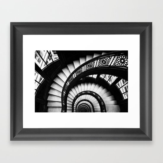 The Downward Spiral Framed Art Print