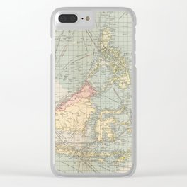 Vintage Map of Indonesia and The Philippine Ports (1905) Clear iPhone Case