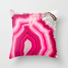 Translucent Agate Throw Pillow