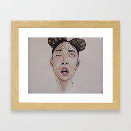 FKA Twigs watercolor  Framed Art Print