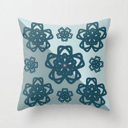 Blue Dianne Madalas Throw Pillow