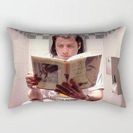 Pulp Fiction Movie Poster - Vincent Vega Print - Funny Bathroom Rectangular Pillow