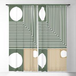 Stylish Geometric Abstract Blackout Curtain