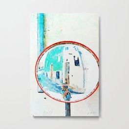 Borrello: photographer reflected in the street mirror Metal Print