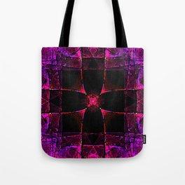 Spacial Cube in Purple Tote Bag