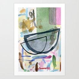 Abstract watercolor still life #1 Art Print