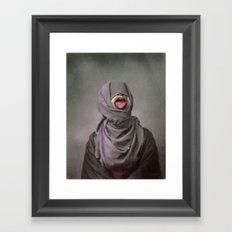 I KEEP BITING MY TONGUE Framed Art Print