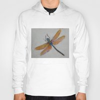 dragonfly Hoodies featuring Dragonfly by Michael Creese