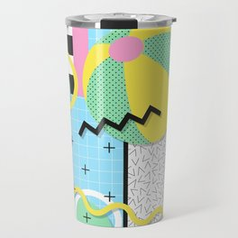 Memphis Eighties Summer Pool Party Travel Mug