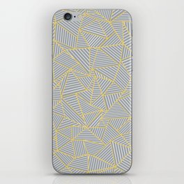 Ab Outline Gold and Grey iPhone Skin